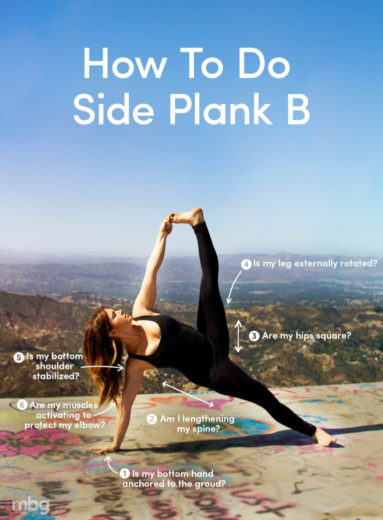 How To Practice Side Plank B & Actually Grab Your Foot (Infographic)