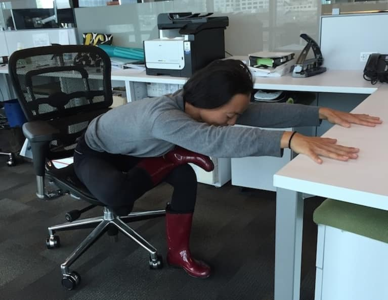 A Stress-Busting Yoga Sequence You Can Do In The Office