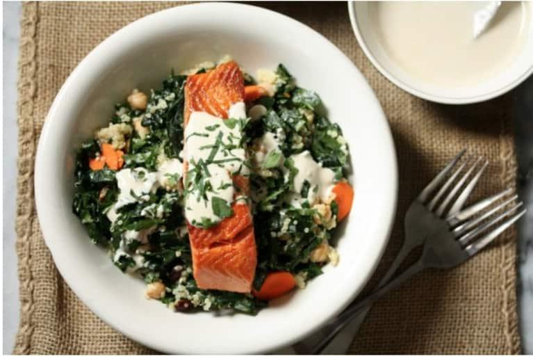 Salmon, Quinoa & Kale Bowls