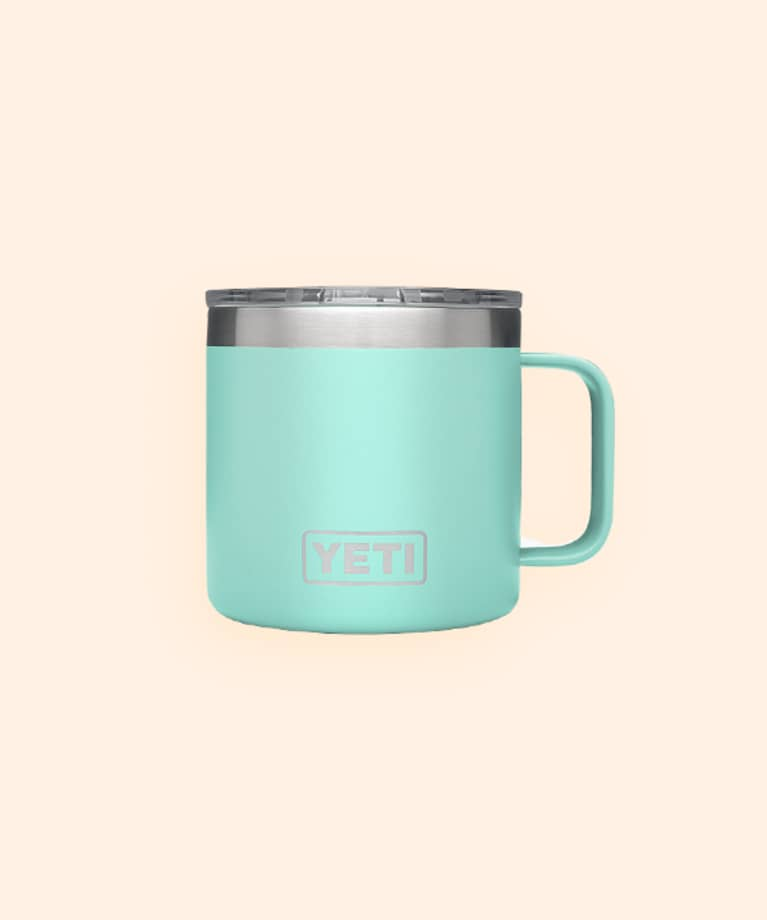 yeti brand turquoise thermos