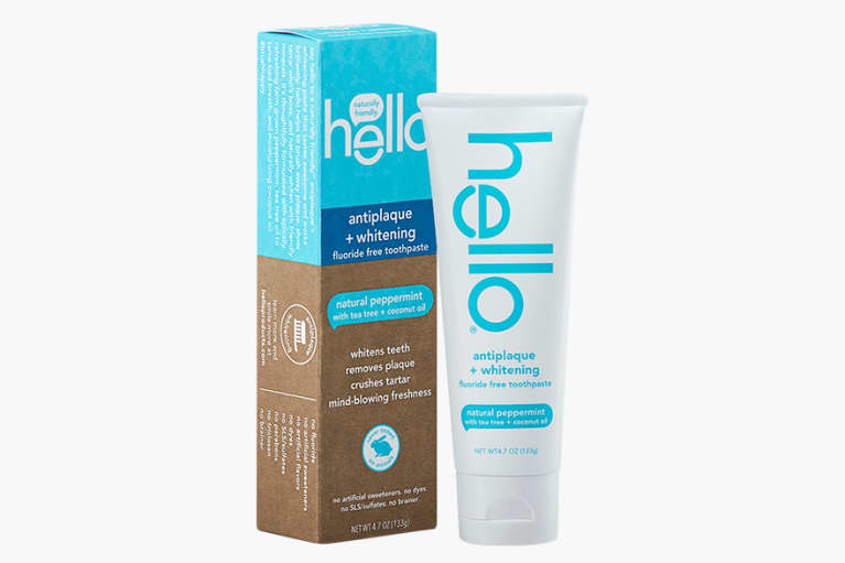 <p>Hello Oral Care Fluoride Free Antiplaque and Whitening Toothpaste</p>
