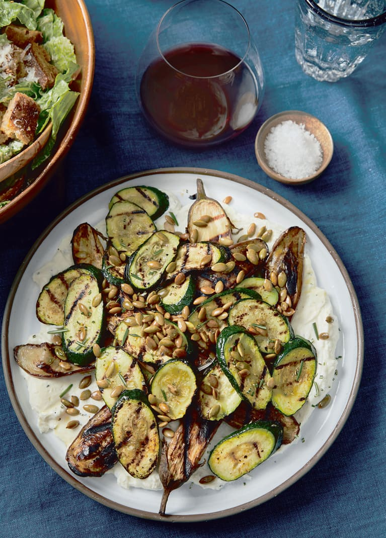 Grilled Vegetables with Whipped Ricotta