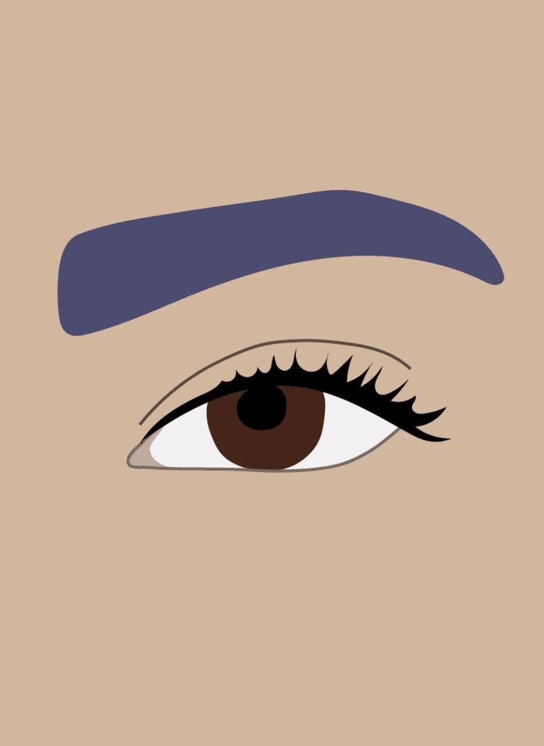 almond eyes