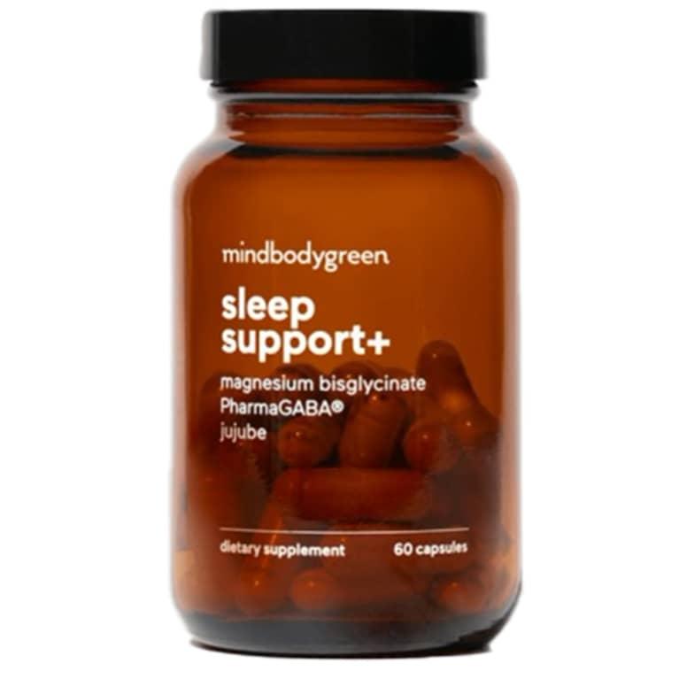 amber supplement bottle
