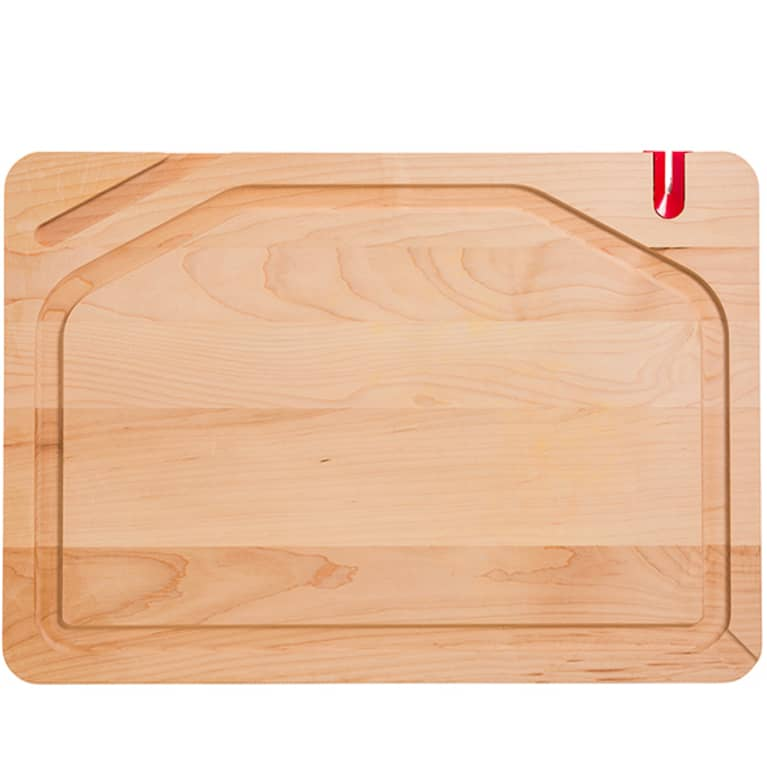 wood cutting board with juice grooves