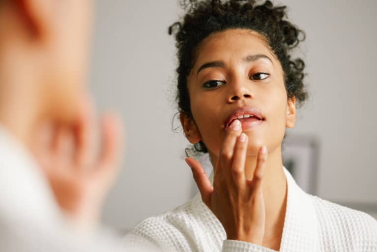 Uh, Is It Just Dry Lips — Or Something Else? Here's How To Find Out