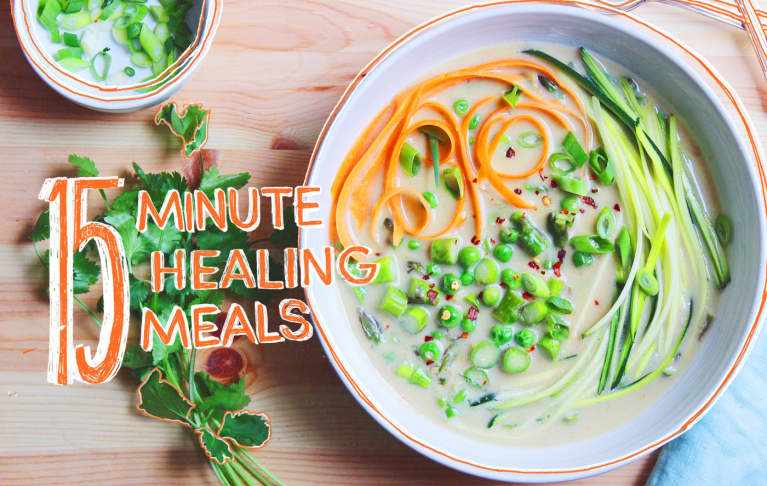 15-Minute Healing Meals: Coconut-Ginger Broth With Spring Vegetables