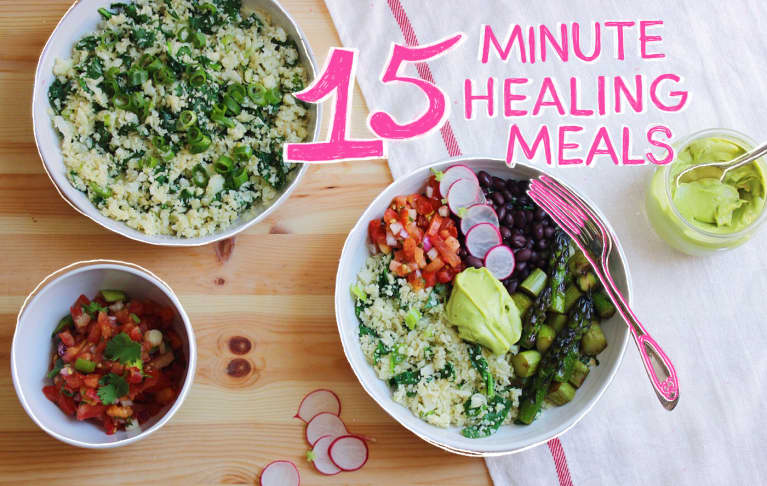15-Minute Healing Meals: Cauliflower Rice Burrito Bowls