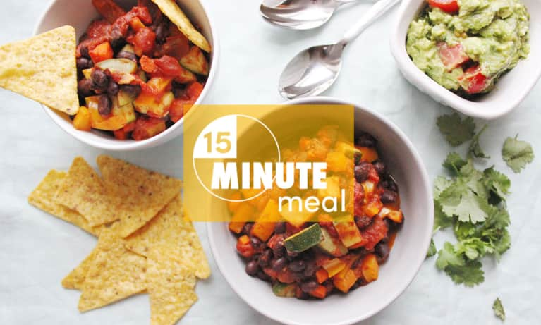15-Minute Vegetable-Packed Chili To Cure The Monday Blues