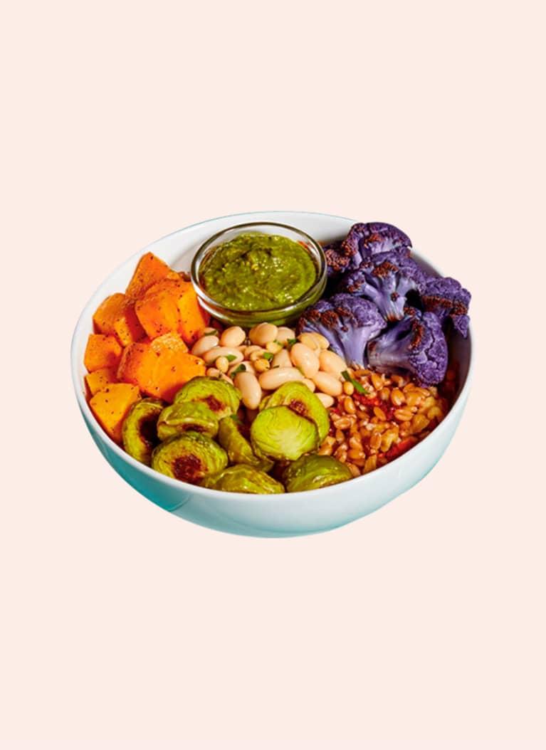 Mosaic vegetarian grain bowls