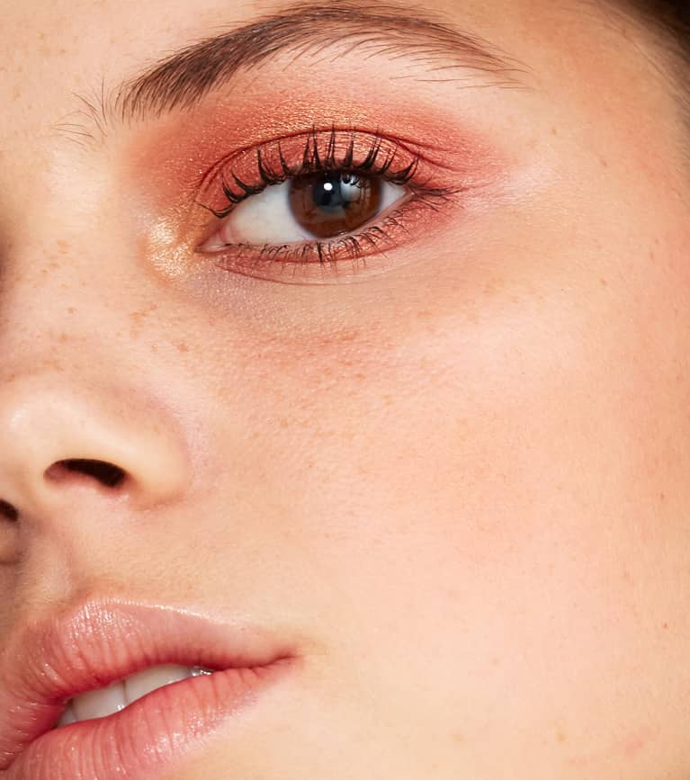 Beauty Portrait, Freckles And Smokey Eyes