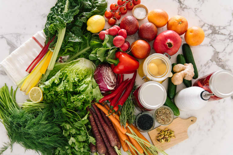 Variety of Healthy Produce, Fruits, Vegetables, and Legumes