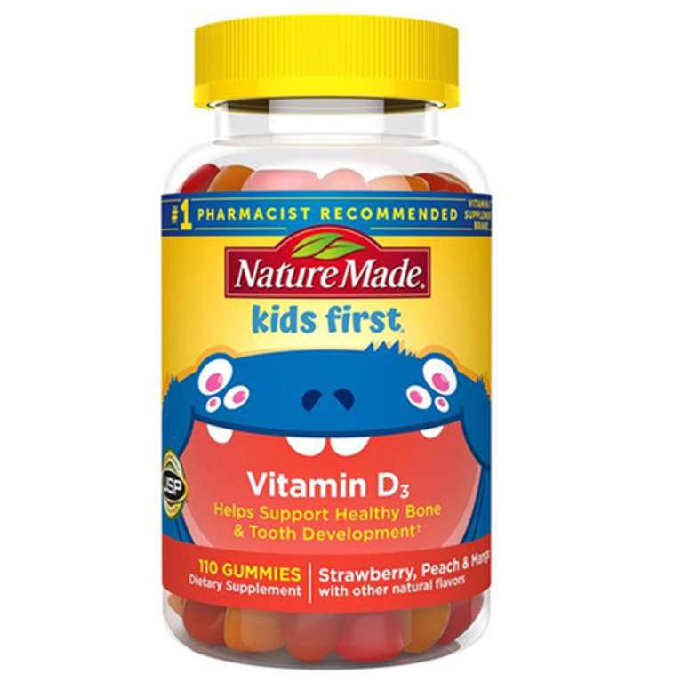 bottle of Nature Made kids vitamin D3 gummies