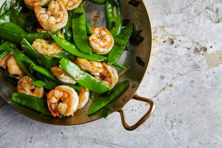 Shrimp and Edamame Stir Fry