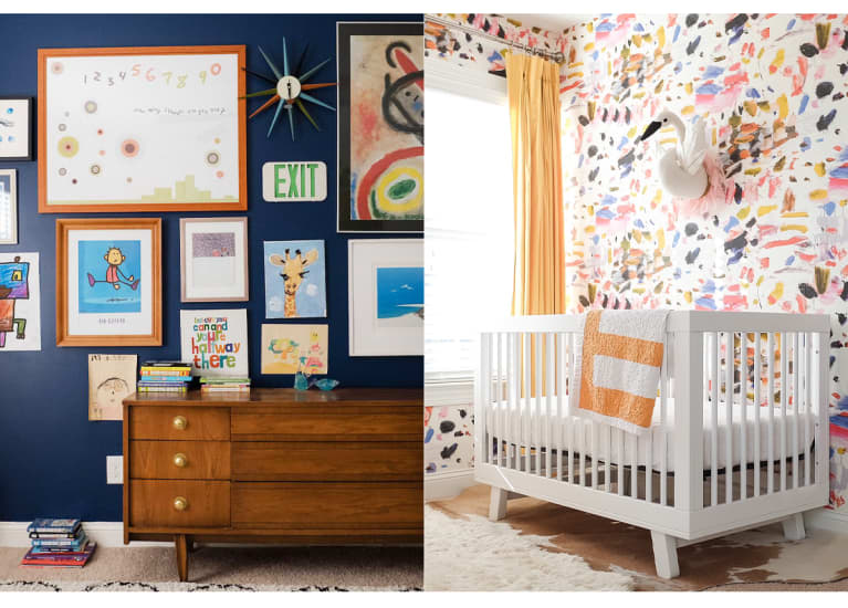 colorful nursery with playful pictures