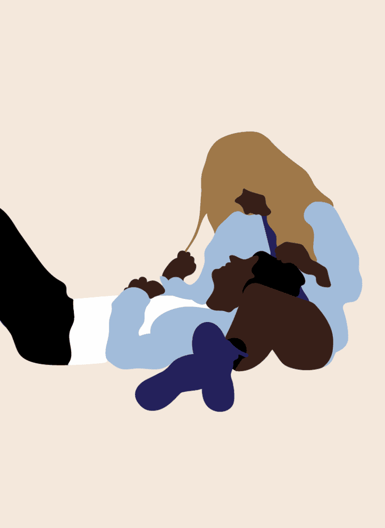Lying with their head on your lap