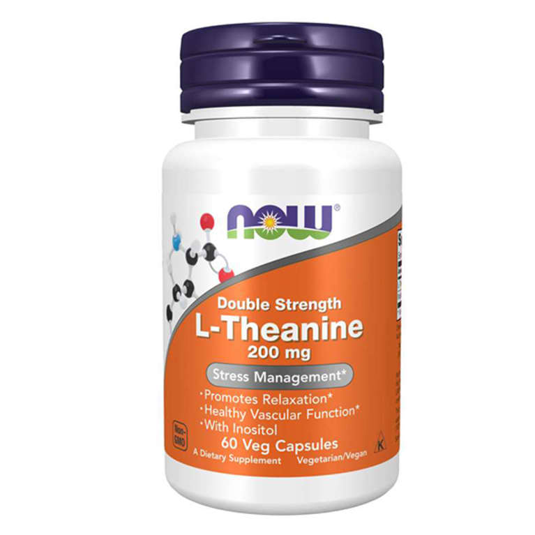 white supplement bottle with purple lid and orange label