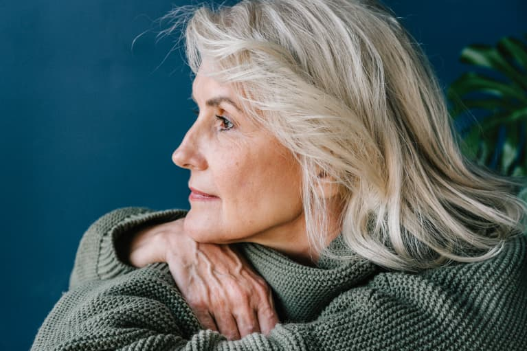 Portrait Of A Beautiful Mature Woman
