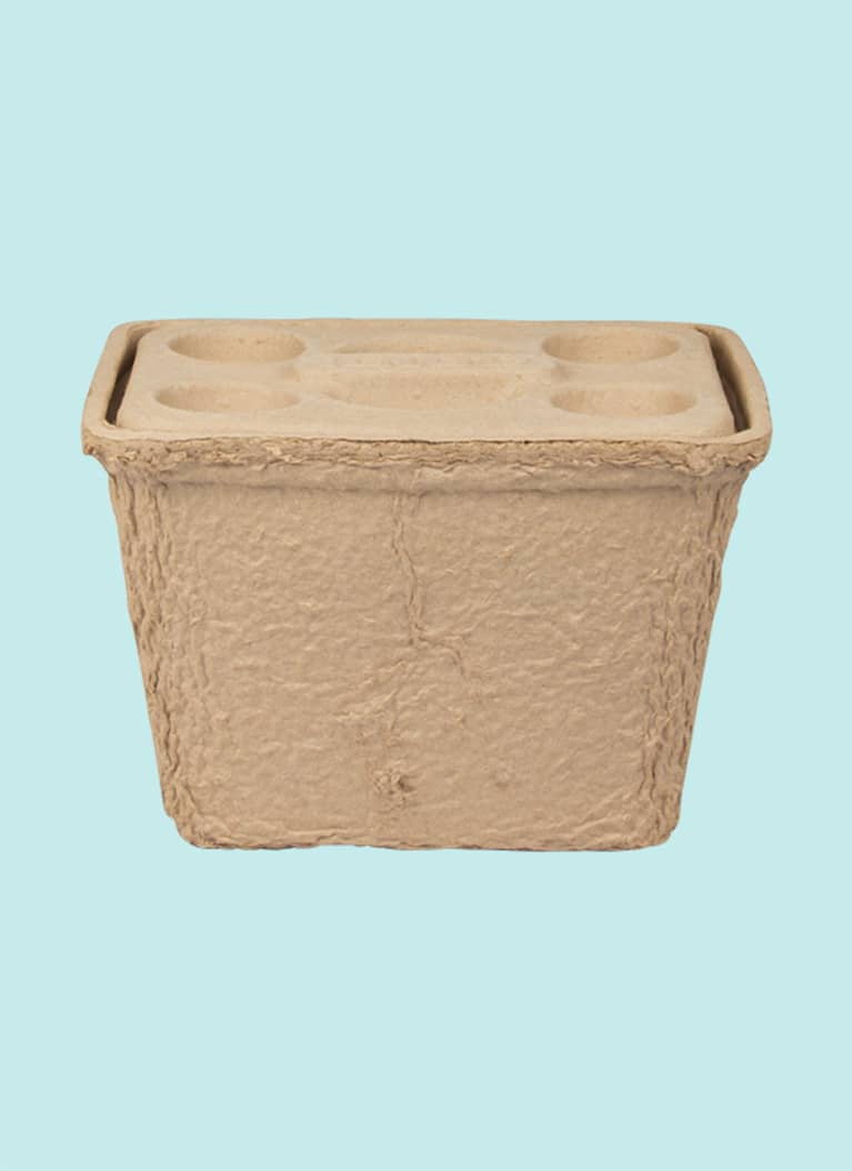 1. A biodegradable cooler