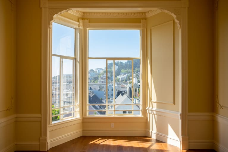 The View From A Sunny Bay Window