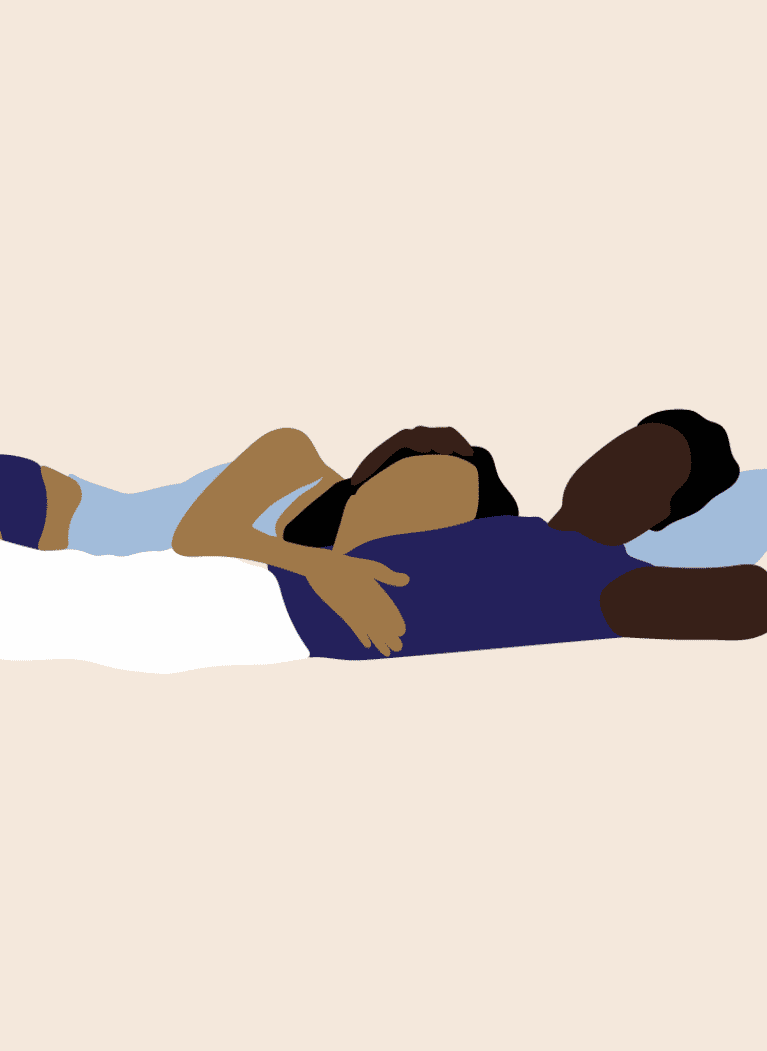 Resting your head on their chest