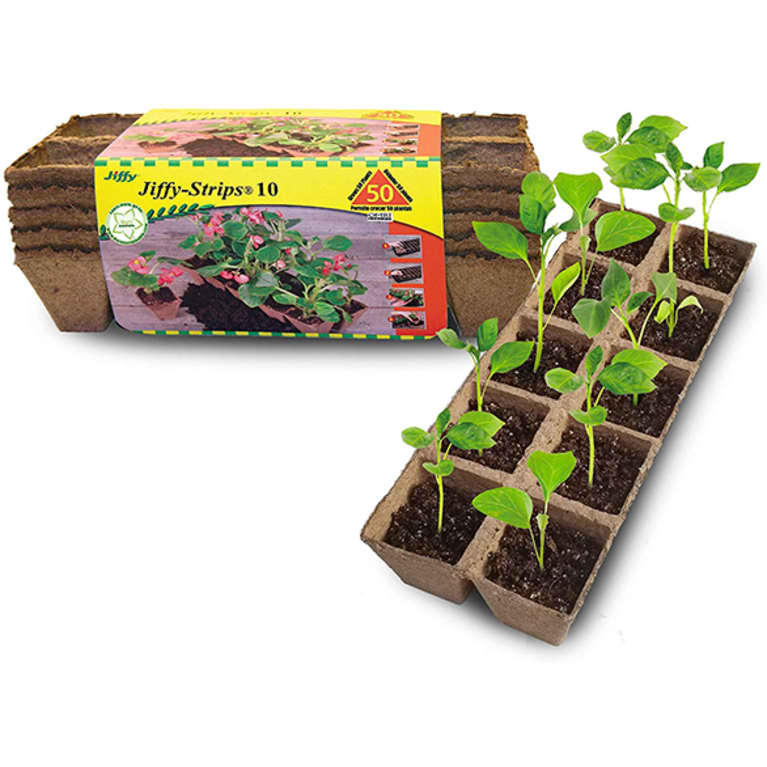 brown biodegradable seed tray stack