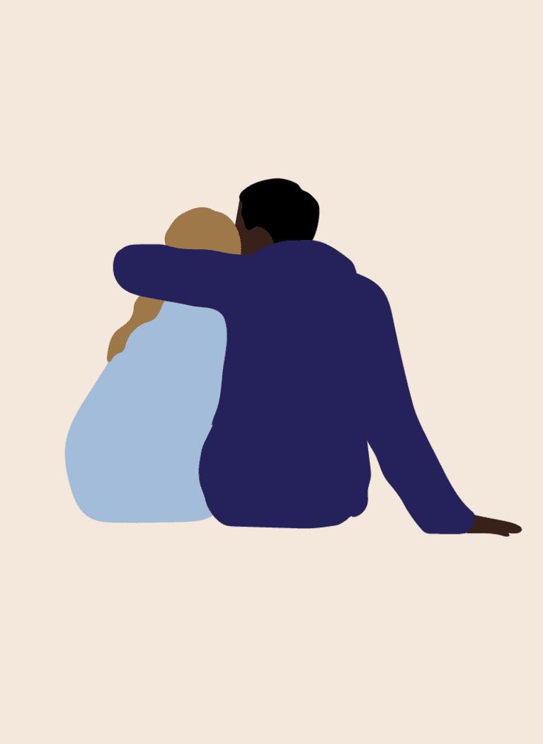 Seated hug