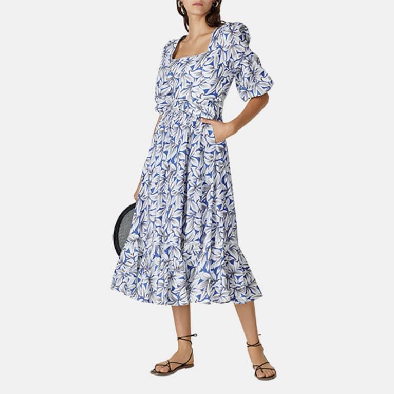 Ella Floral Midi Dress