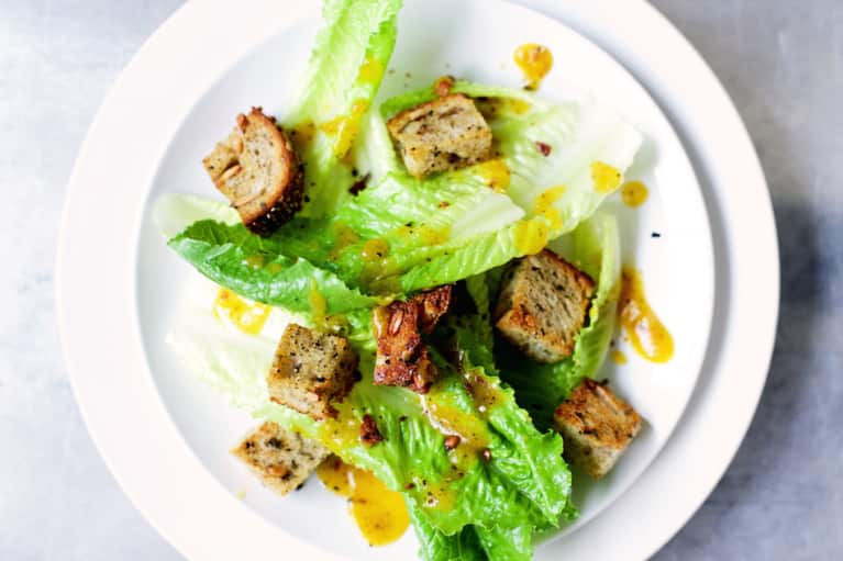 A Pumpkin Caesar Salad Recipe Just In Time For Fall