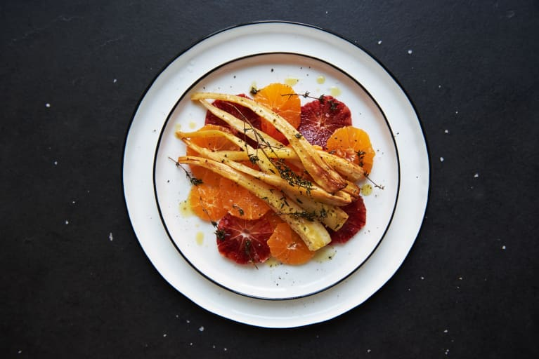 Get Your Root Vegetables In With These Blood Orange Roasted Parsnips
