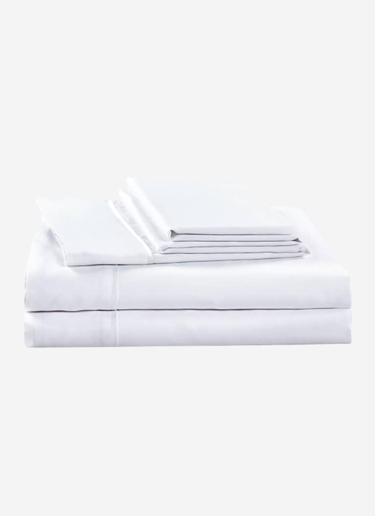 Eucalypso brand classic sheet set in white