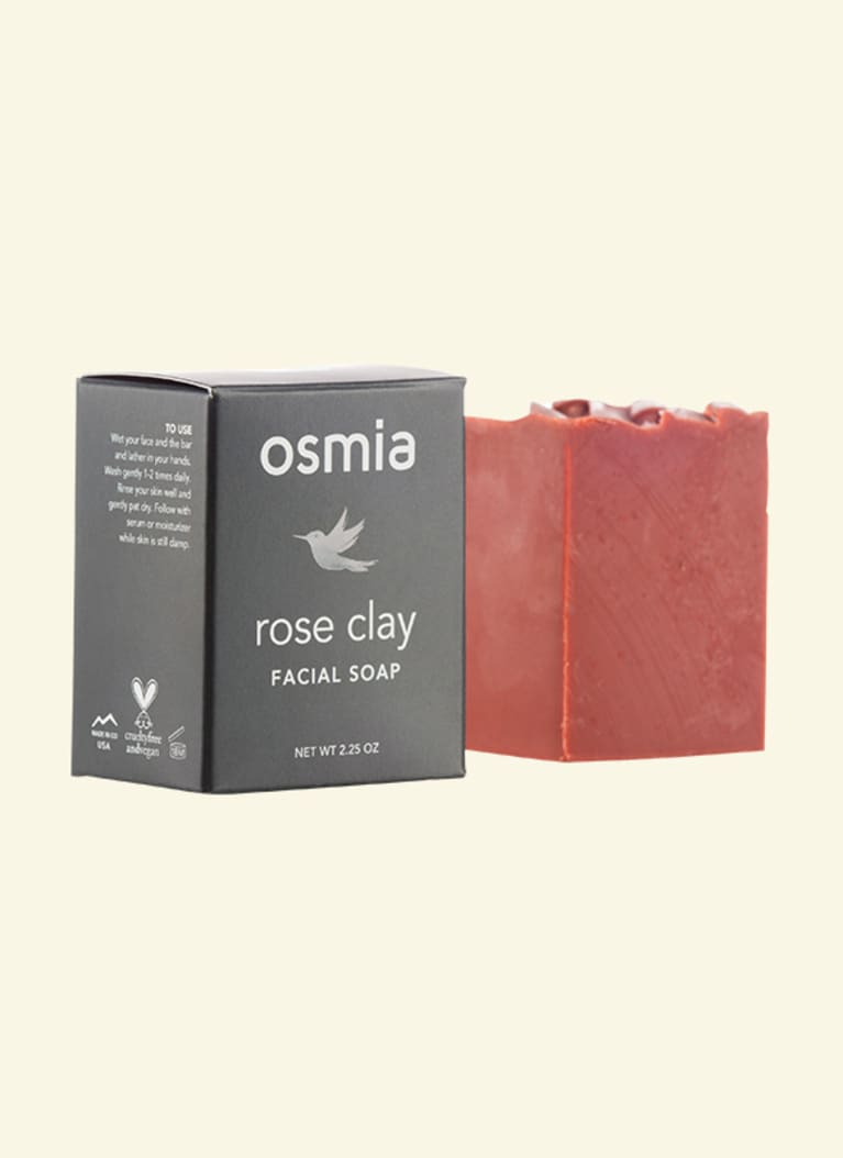 Osmia Organics Rose Clay Facial Soap