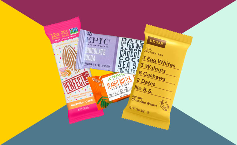 Collage of the best healthy protein bars 2019