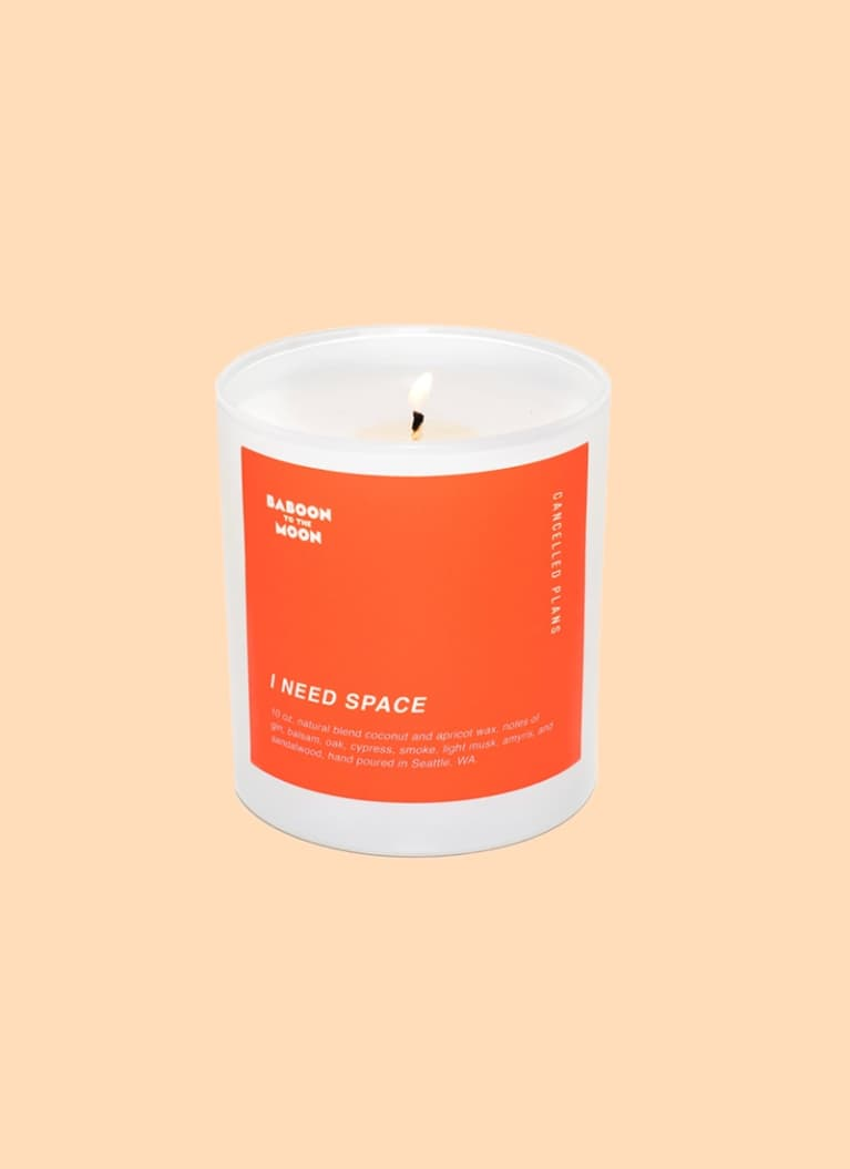 """Cancelled Plans """"I need space"""" candle"""