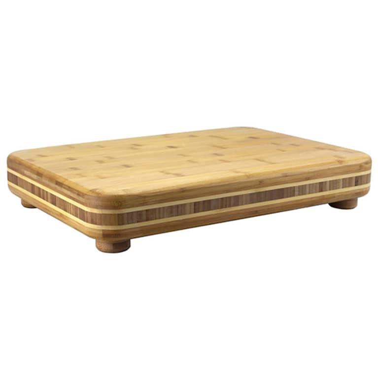 bamboo cutting board with small legs