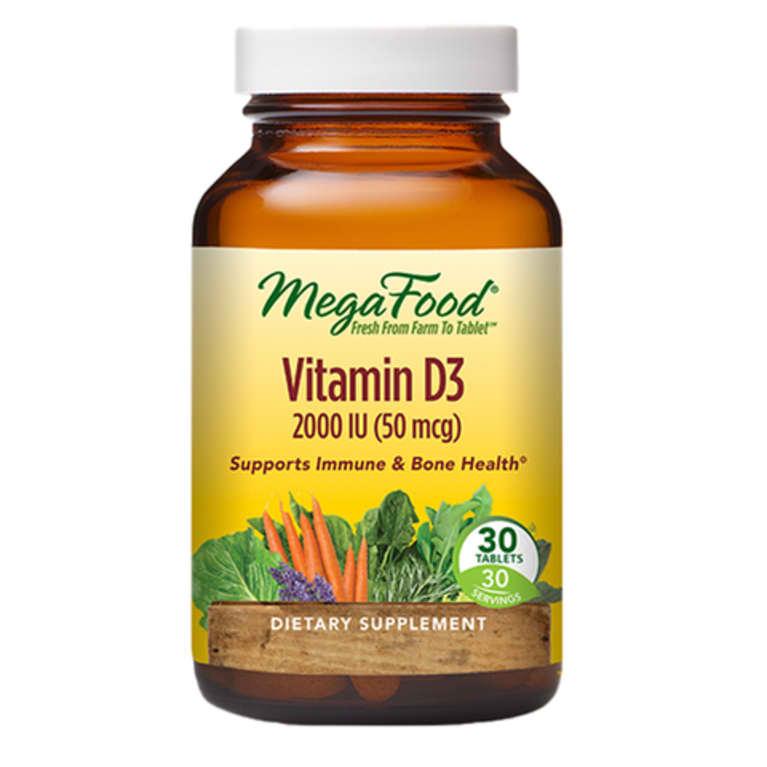 bottle of MegaFood vitamin D
