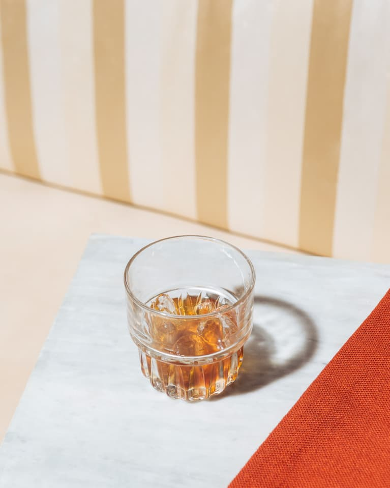 Whiskey Glass on a Table