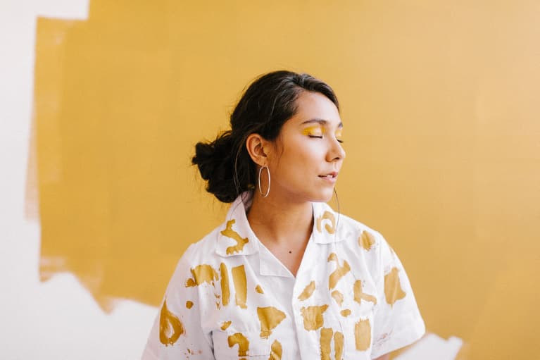 Woman With Eyes Closed