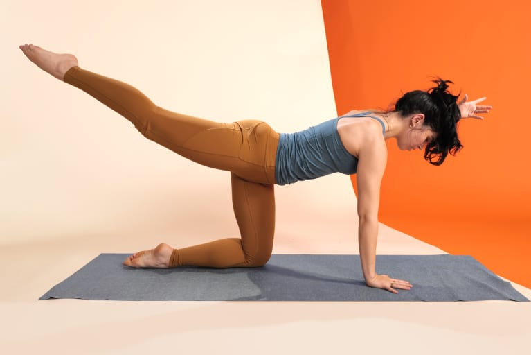 woman doing pilates move