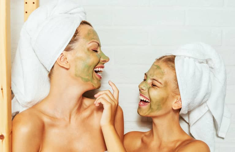 mother and daughter skin care
