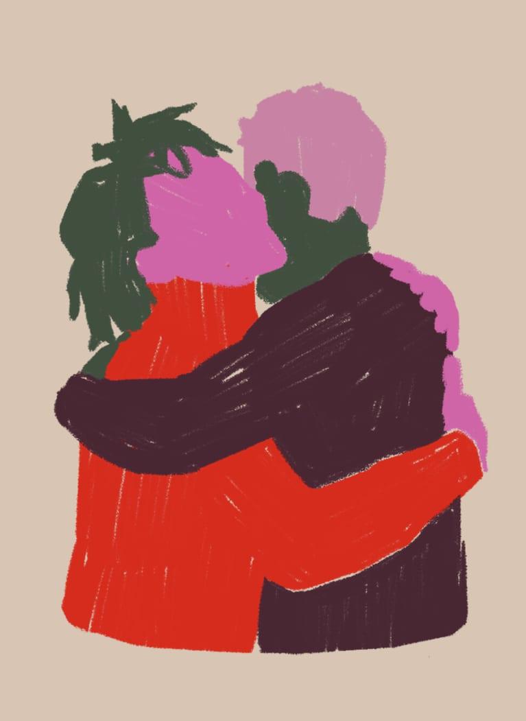 2. Friend hug