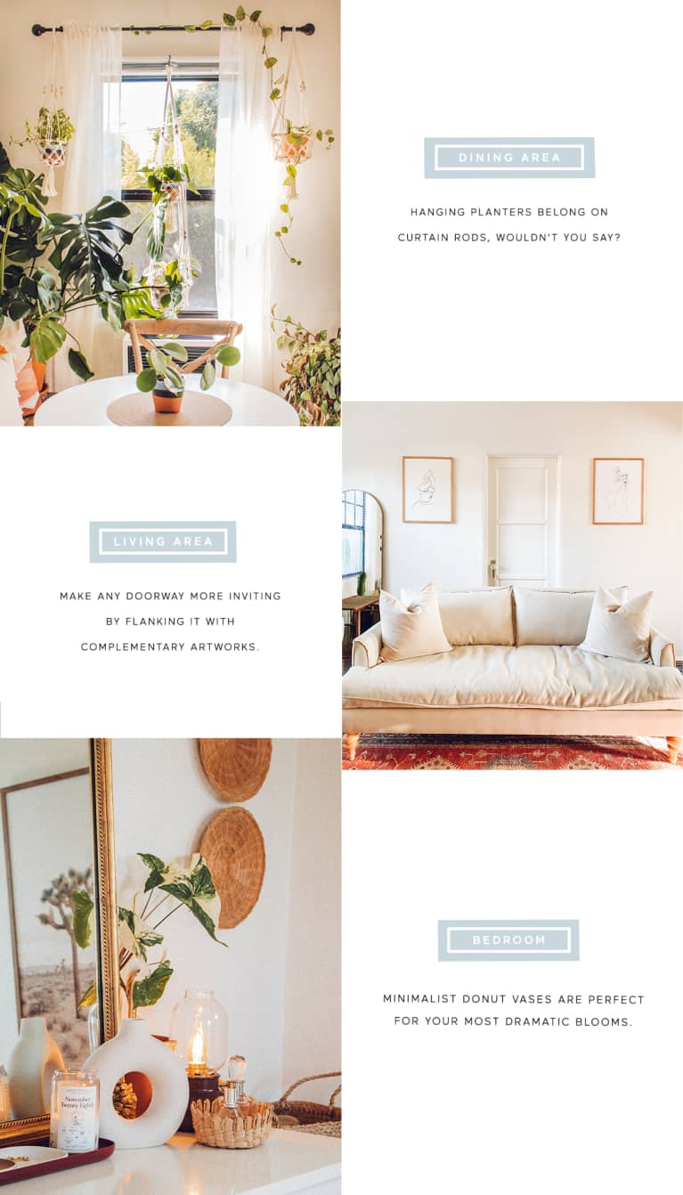 graphic describing how to recreate the look of this home