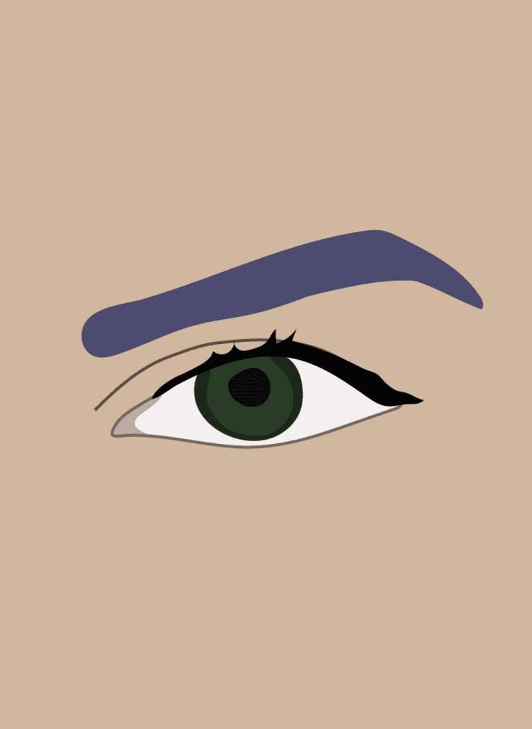 downturned eyes