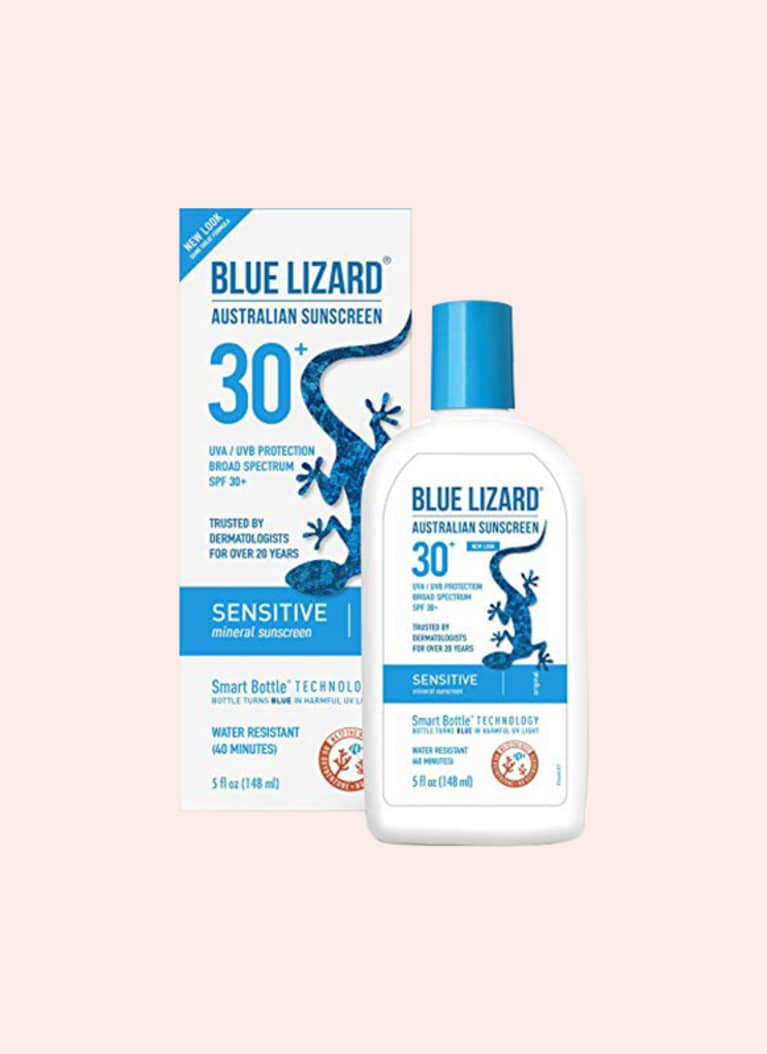 Blue Lizard Australian Sunscreen Sensitive Sunscreen SPF 30+ Broad Spectrum UVA/UVB Protection