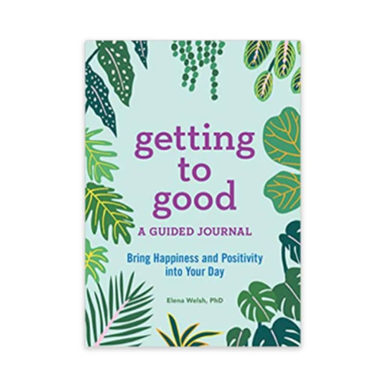 """""""getting to good"""" book with green cover"""