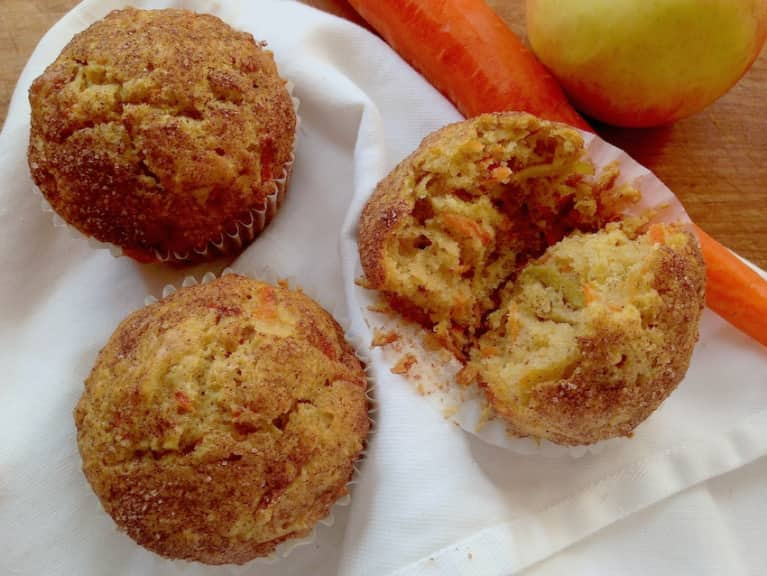 Apple-Carrot Morning-Glory Muffins!