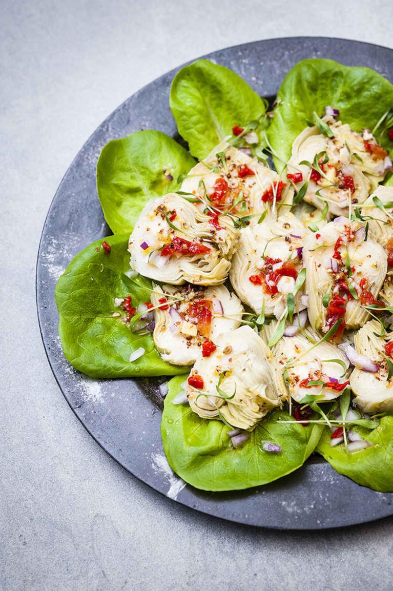 Peruvian Artichoke Heart Salad