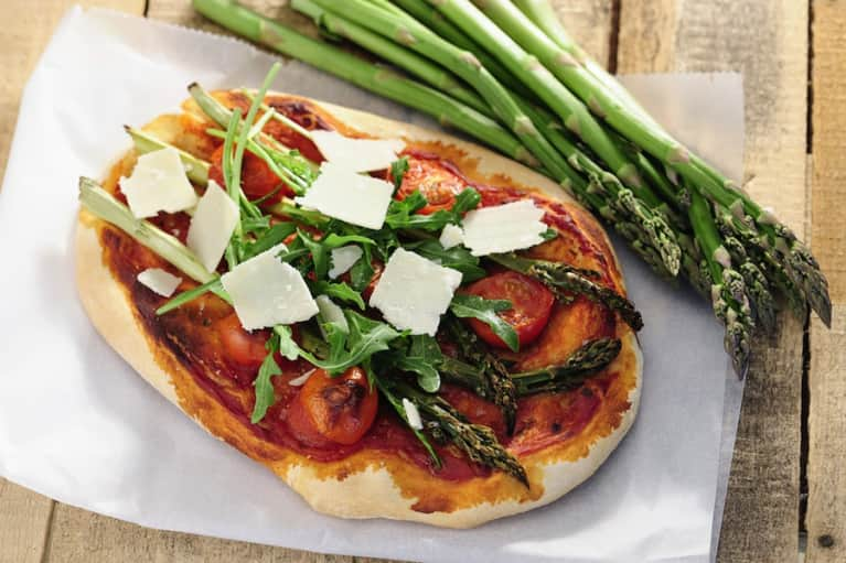 The Perfect Spring Pizza: Crispy Kale & Roasted Asparagus
