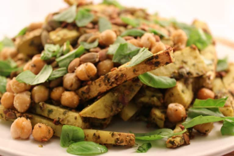 These Baked Basil Fries Will Blow You Away (And They're Vegan!)