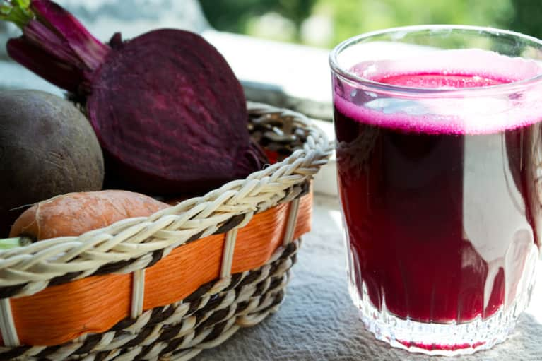 Basil Beet Juice With A Ginger Kick